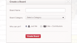 Pinterest: Adding a Board on Pinterest