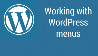 WordPress: Working with menus