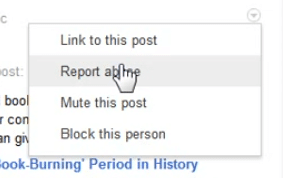 Google+: Blocking and reporting users