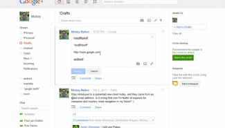 Google+: How to create draft posts