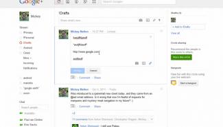 Google+: How to create draft posts