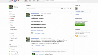 Google+: Formatting your posts with bold, italic and strikeout