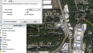Google Earth: Measuring the distance of a path