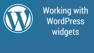 WordPress: How the various widgets work