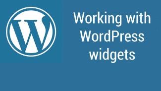 WordPress: How the various widgets work