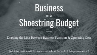 Meetup: Business on a Shoestring Budget