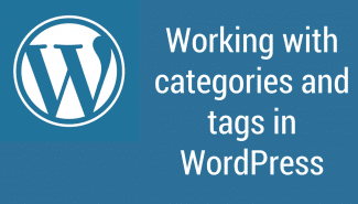 WordPress: Working with categories and tags