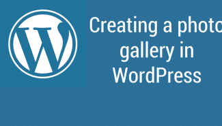 WordPress: Creating a photo gallery