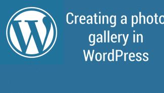 WordPress: Creating a photo gallery