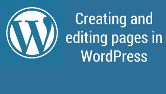 WordPress: Creating and editing pages