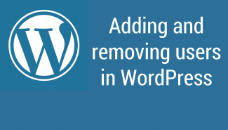WordPress: How to add and remove users