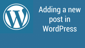 WordPress: Adding a new post