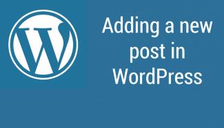 WordPress: Adding a new post