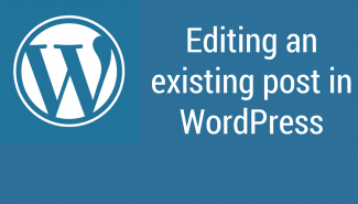 WordPress: Editing existing posts