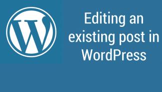 WordPress: Editing existing posts