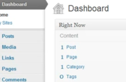 WordPress: Using the admin dashboard