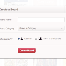 Pinterest: Adding a Board on Pinterest