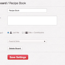 Pinterest: Edit or Delete an Existing Board
