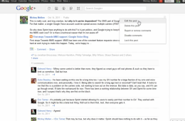Google+: How to edit posts after you've published them