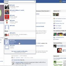 Facebook: Using the search feature