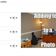 Google+: How to add text to an image