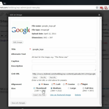WordPress: How to upload an image
