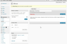 WordPress: Working with menus